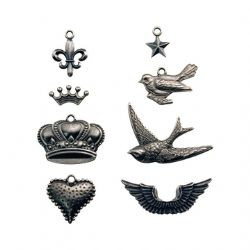 TH92832 Tim Holtz idea-ology Adornments - Metal Charm Pack DISCONTINUED